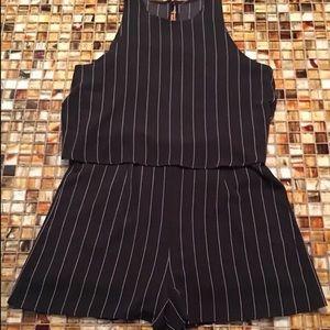 fccfaa53ad09 HYFVE Other - New HYFVE Black Pinstripe Dressy Open Back Romper